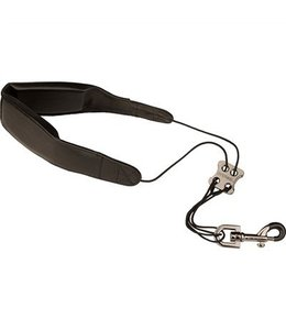"Protec SAX LEATHER NECK STRAP-22"" REGULAR W/ METAL SNAP BLACK"