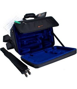 Protec DOUBLE CLARINET LUX MESSENGER PRO PAC CASE BLACK