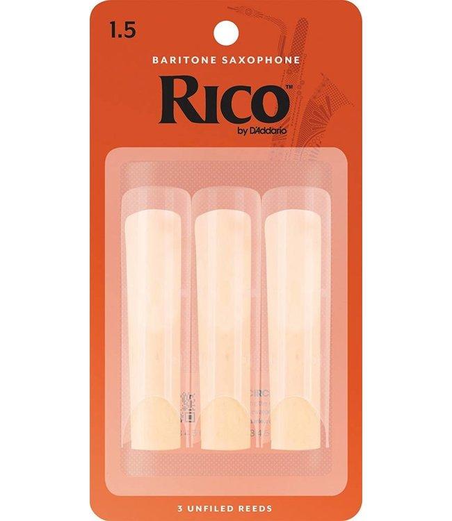Rico Rico Baritone Saxophone Reeds, Pack of 3