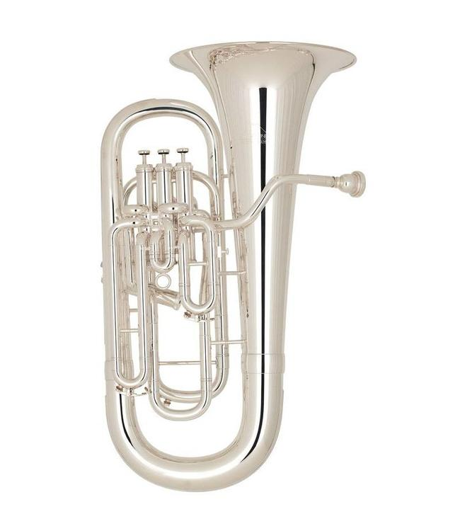 Miraphone Miraphone 1258A 4 Valve Silver Plated Compensating Euphonium w/ case