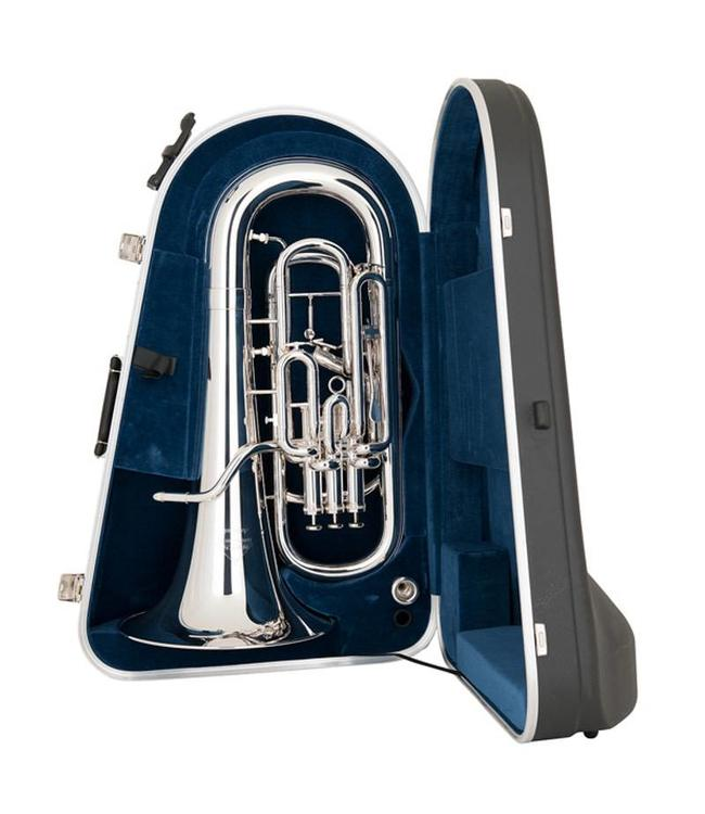 Miraphone Miraphone M5050T-SP-WC 4 Valve Compensating Euphonium, with trigger and case, Silver Plate
