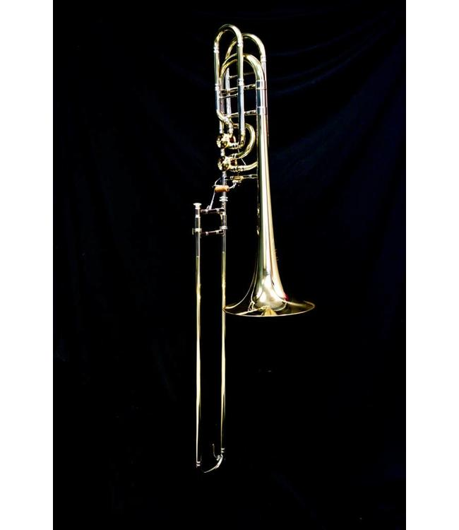M&W Trombones M&W 929 Large Bore Double Valve Bass Trombone Bb/F/Gb with Detachable Bell