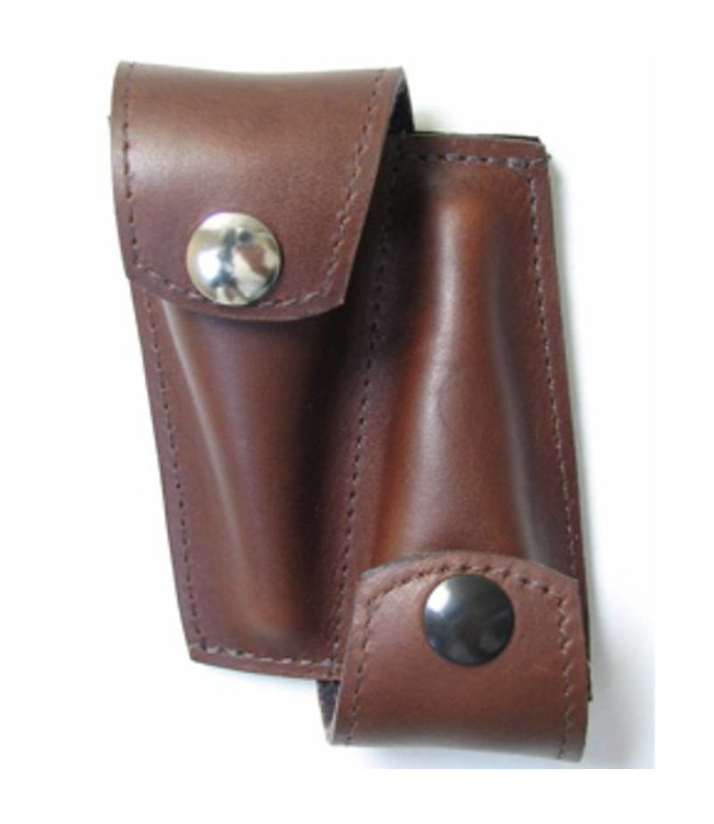Torpedo Bags Torpedo Double Trumpet Mouthpiece Pouch Brown Leather
