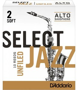 D'Addario D'Addario Select Jazz Unfiled Alto Sax Reeds, Box of 10
