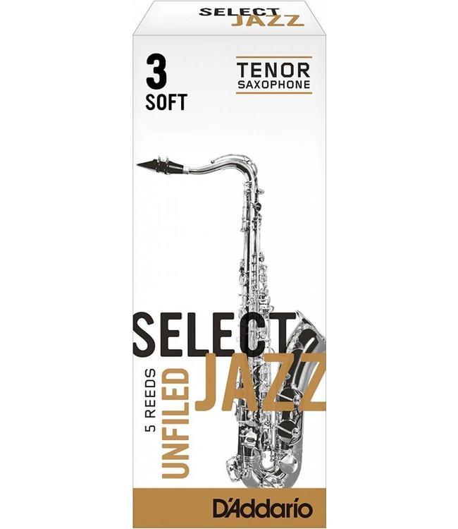 D'Addario D'Addario Select Jazz Unfiled Tenor Sax Reeds Box of 5
