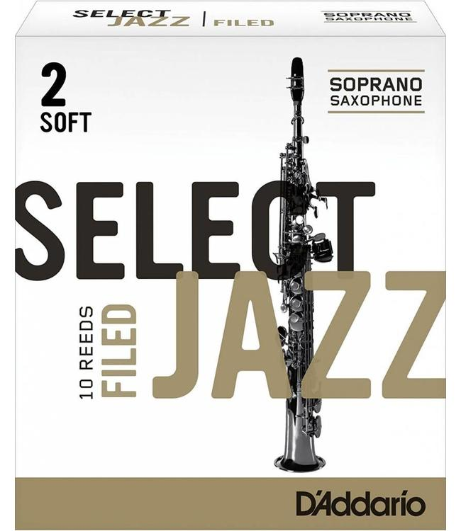 D'Addario D'Addario Select Jazz Filed Soprano Sax Reeds, Box of 10