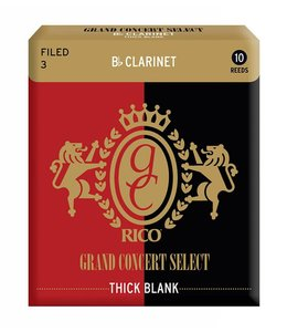 Rico Rico Grand Concert Select Thick Blank for Bb Clarinet, Box of 10