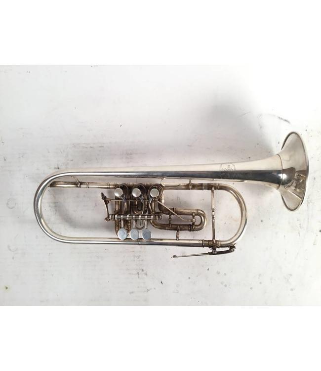 """Peter Baumann Used Peter Baumann """"Hohenaschau""""  rotary Bb trumpet"""