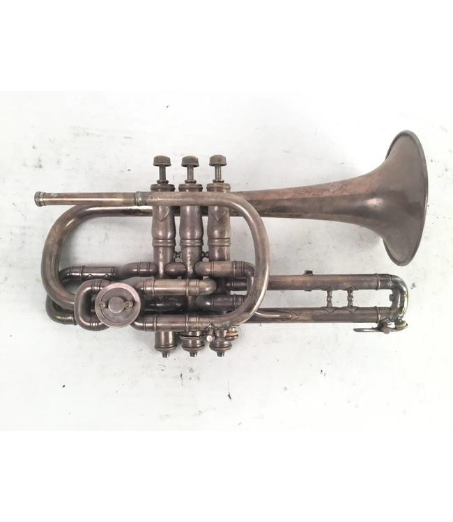 "Meredith Used Meredith ""Open Tone"" Bb/A compensating cornet"
