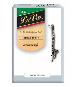 Rico Rico La Voz Bass Clarinet Reeds, Box of 10