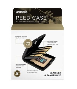 DAddario Woodwinds D'Addario Multi-Instrument Reed Storage Case with Humidity Control Pack for all Clarinets and Saxophones