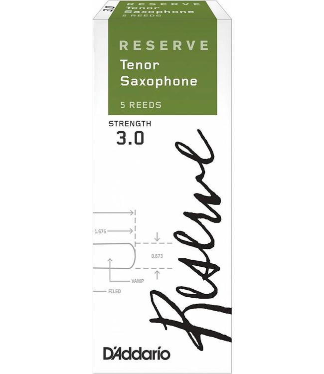 D'Addario D'Addario Reserve Tenor Saxophone Reeds, Box of 5