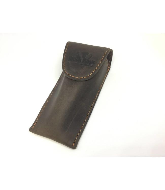 Dillon Music Dillon Music Brown Leather Small Brass Mouthpiece Pouch