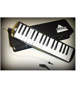 Harris Harris Musical Deluxe Black Melodica with Matching Black Deluxe Case With Free AAA Musical Polishing Cloth