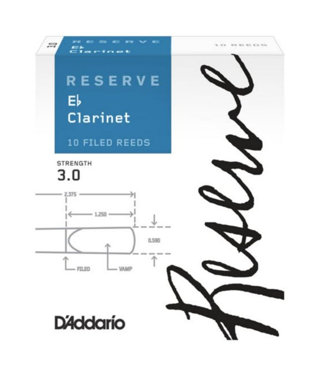 D'Addario D'addario Reserve Eb Clarinet Reeds, Box of 10