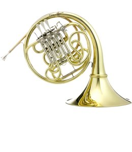 Hans Hoyer Hoyer G10 Geyer Style Double French Horn, Clear lacquer, string mechanism