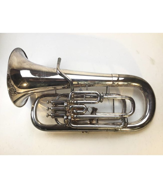 Miraphone Used Miraphone Model 1258A Bb Euphonium in silver plate