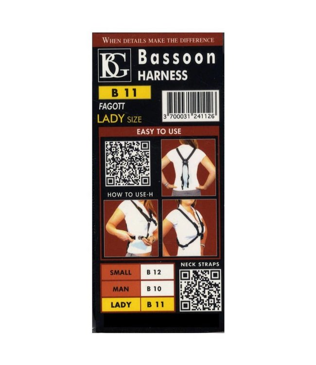 BG Bassoon Harness Strap for Women