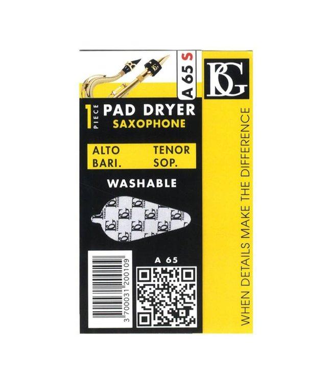 BG BG A65S Microfiber Pad Dryer for All Saxophones