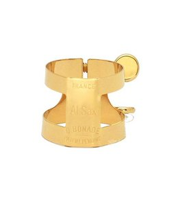 Bonade 2254UG Alto Saxophone Ligature - Lacquered - Inverted
