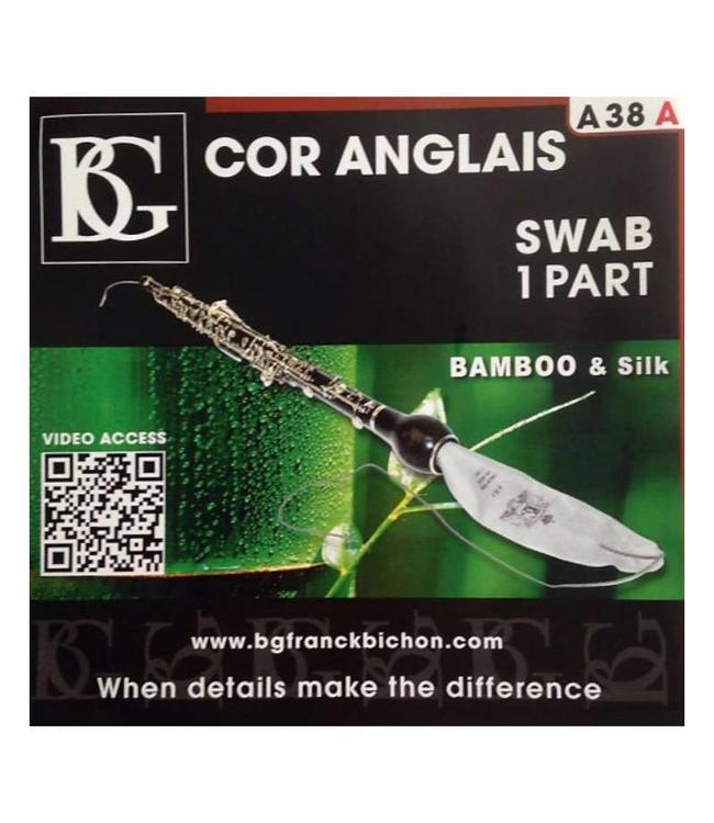 BG BG A38A Bamboo/Silk English Horn Cleaning Swab (1 part)