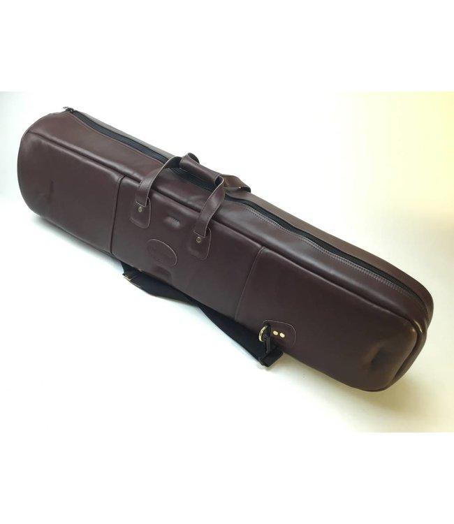 Cronkhite Used Cronkhite Large Tenor Trombone Case- Chocolate Brown, Leather