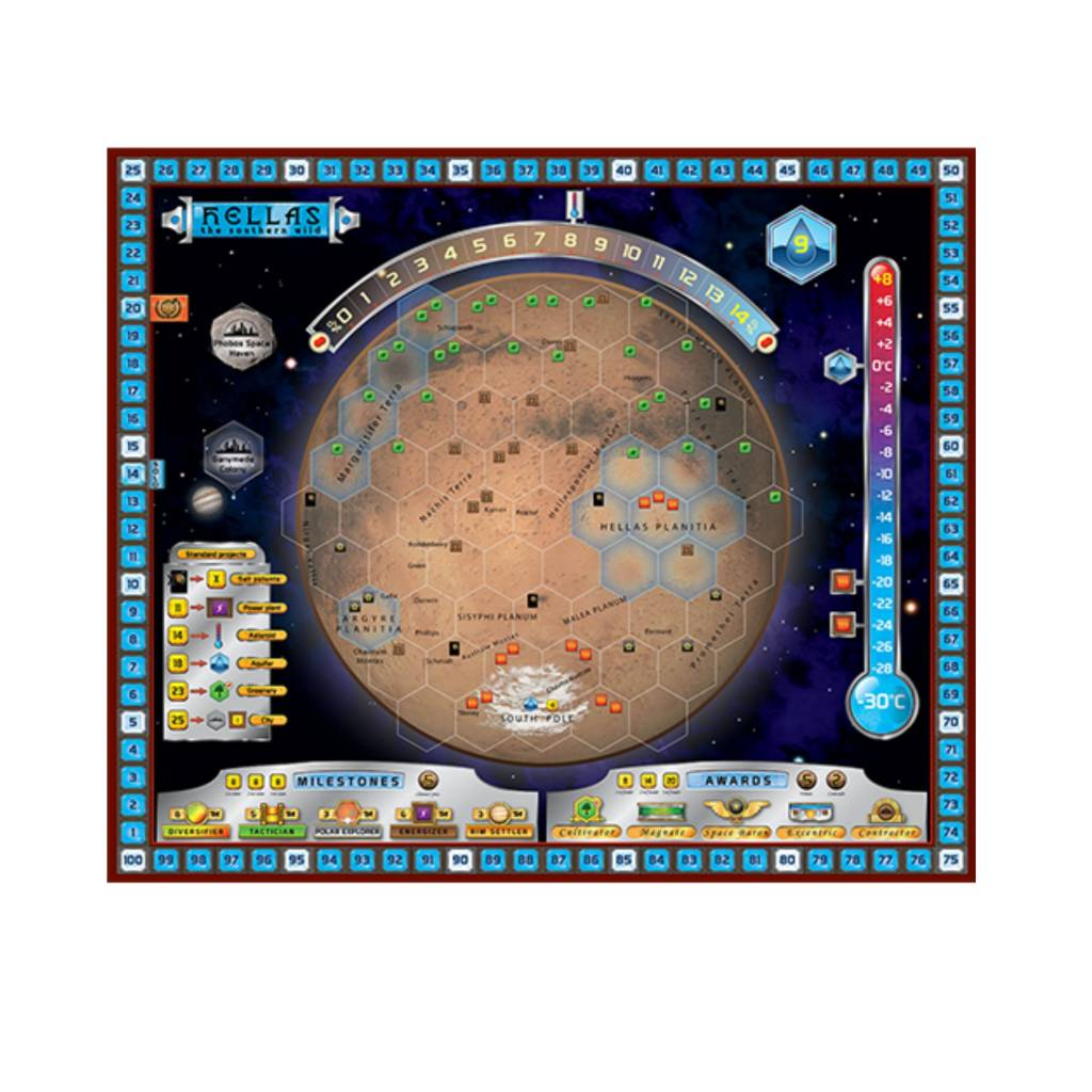 Stronghold Games Terraforming Mars: Hellas and Elysium