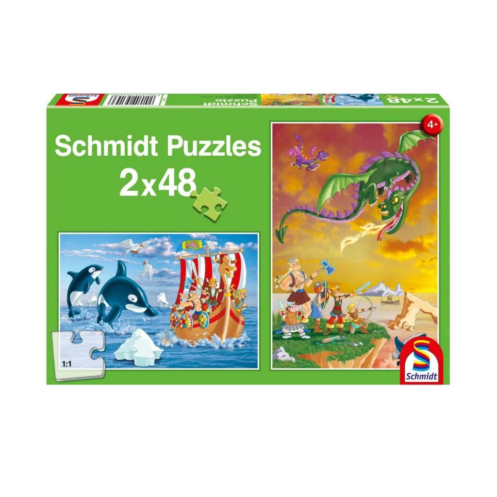 Schmidt Puzzle: Child  2X48 Vikings