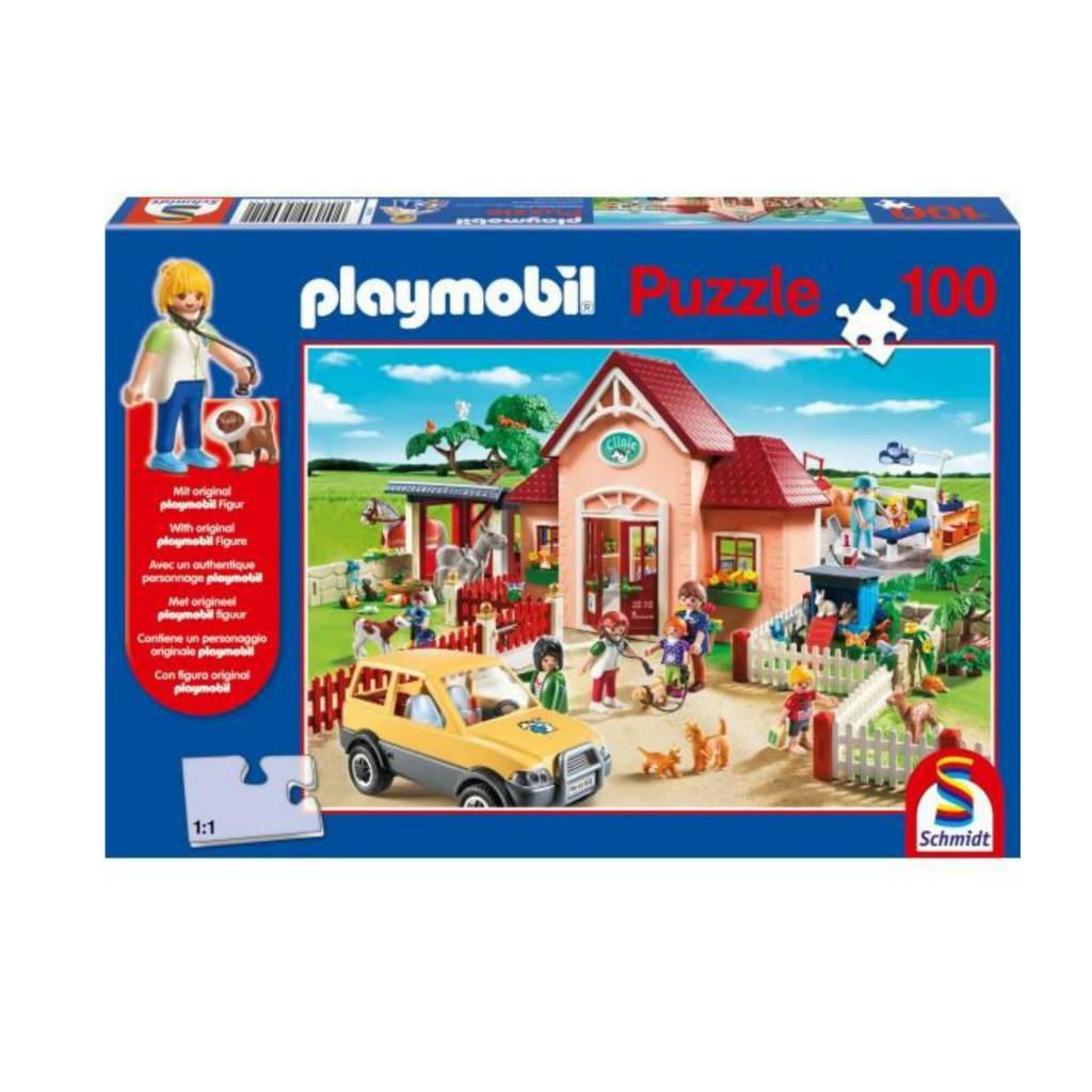 Schmidt Puzzle 100: Playmobil At The Vet Schmidt