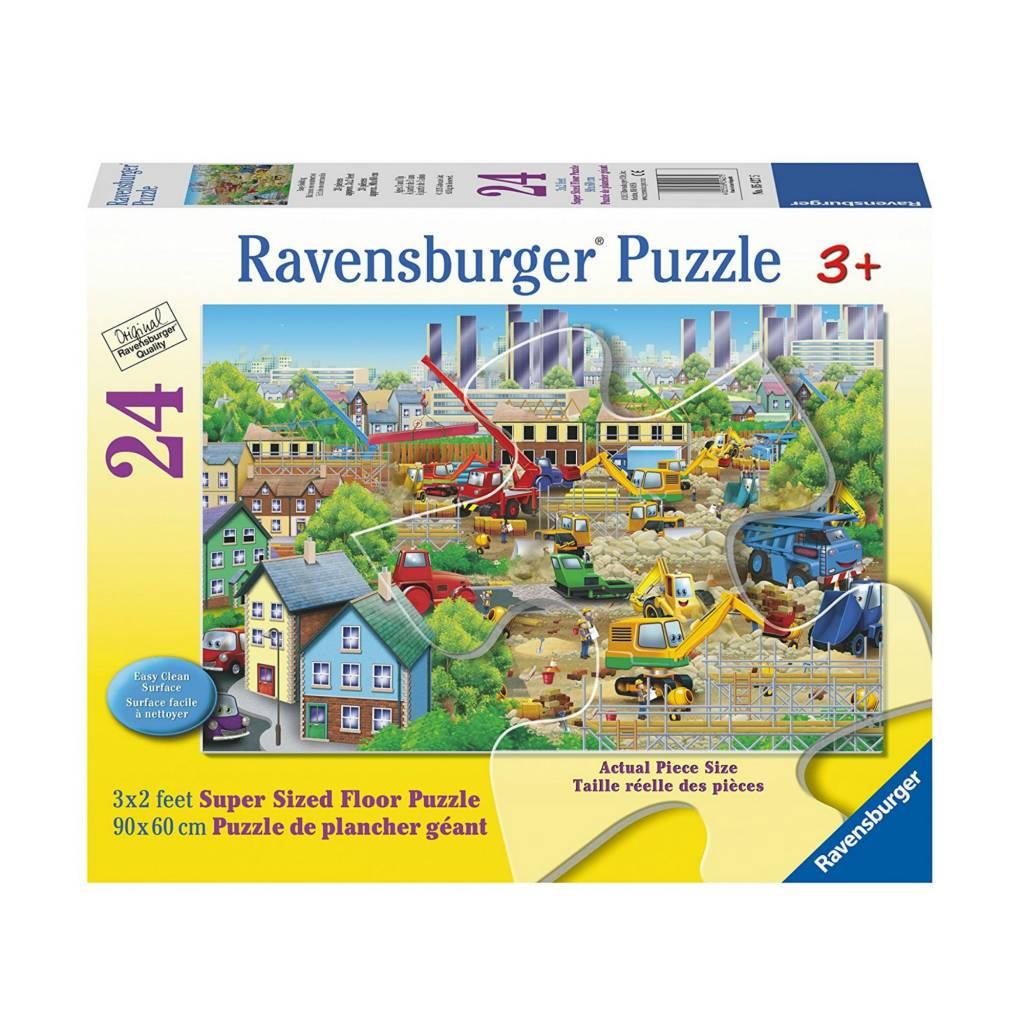 Ravensburger Puzzle 24: Bâtiment en construction Casse-tête de plancher géant