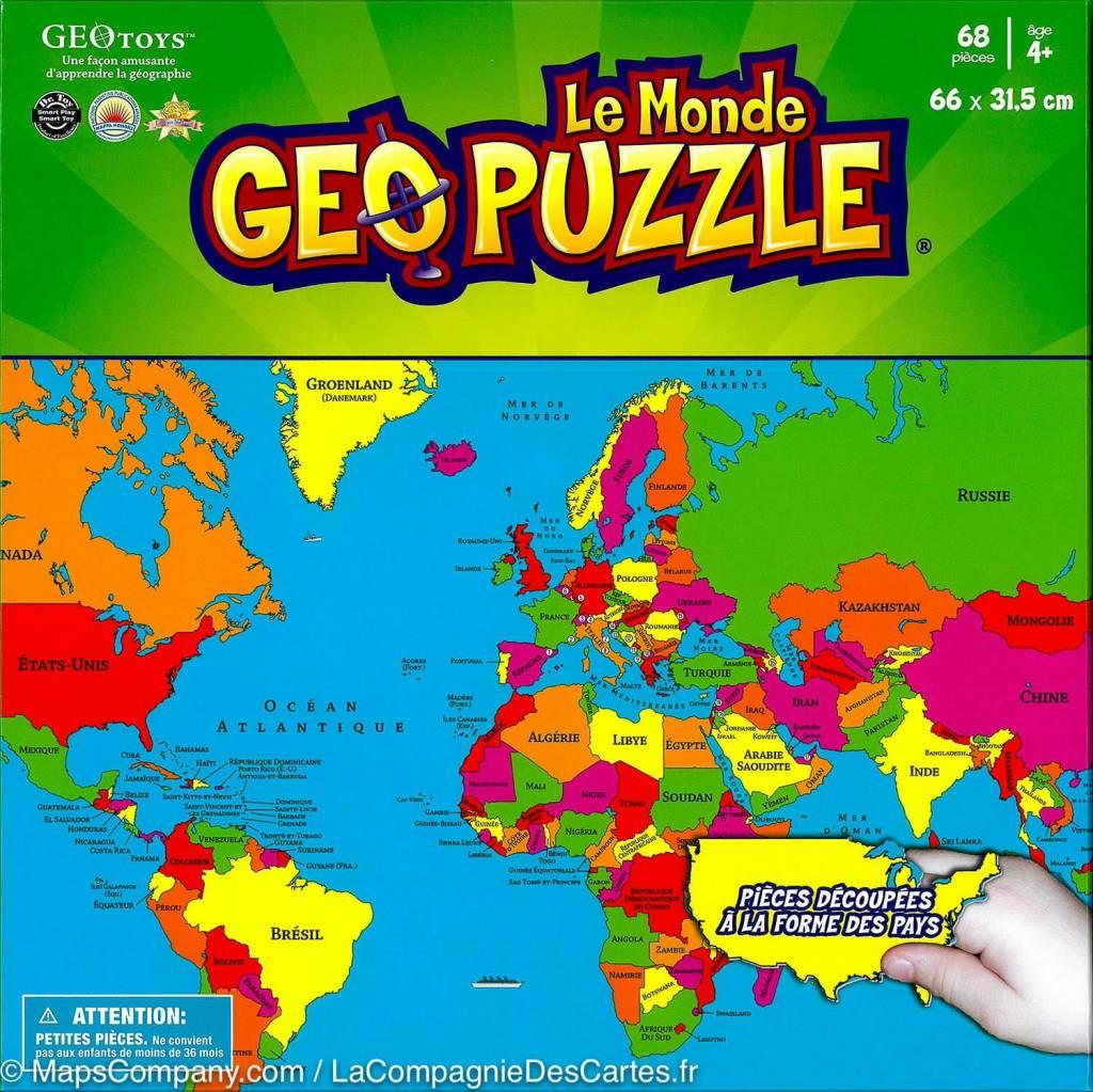 GeoToys Le Monde Geo Puzzle Geo toys