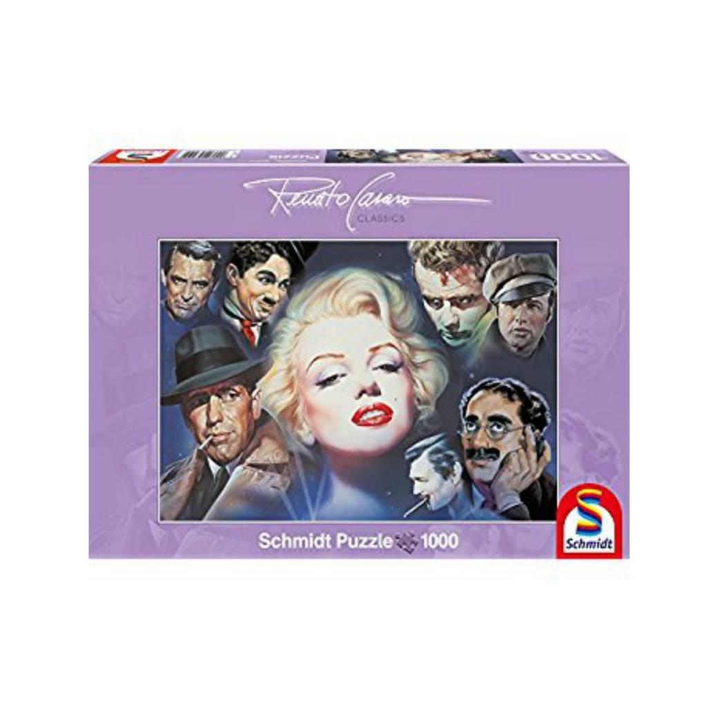 Schmidt Puzzle 1000:  Marilyn Monroe  And Friends Schmidt