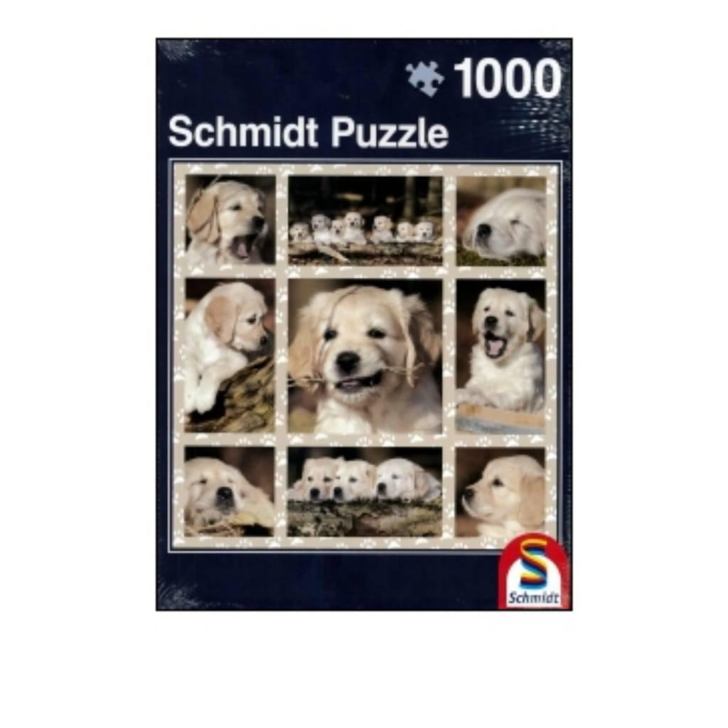 Schmidt Puzzle 1000: Dog Kids Schmidt