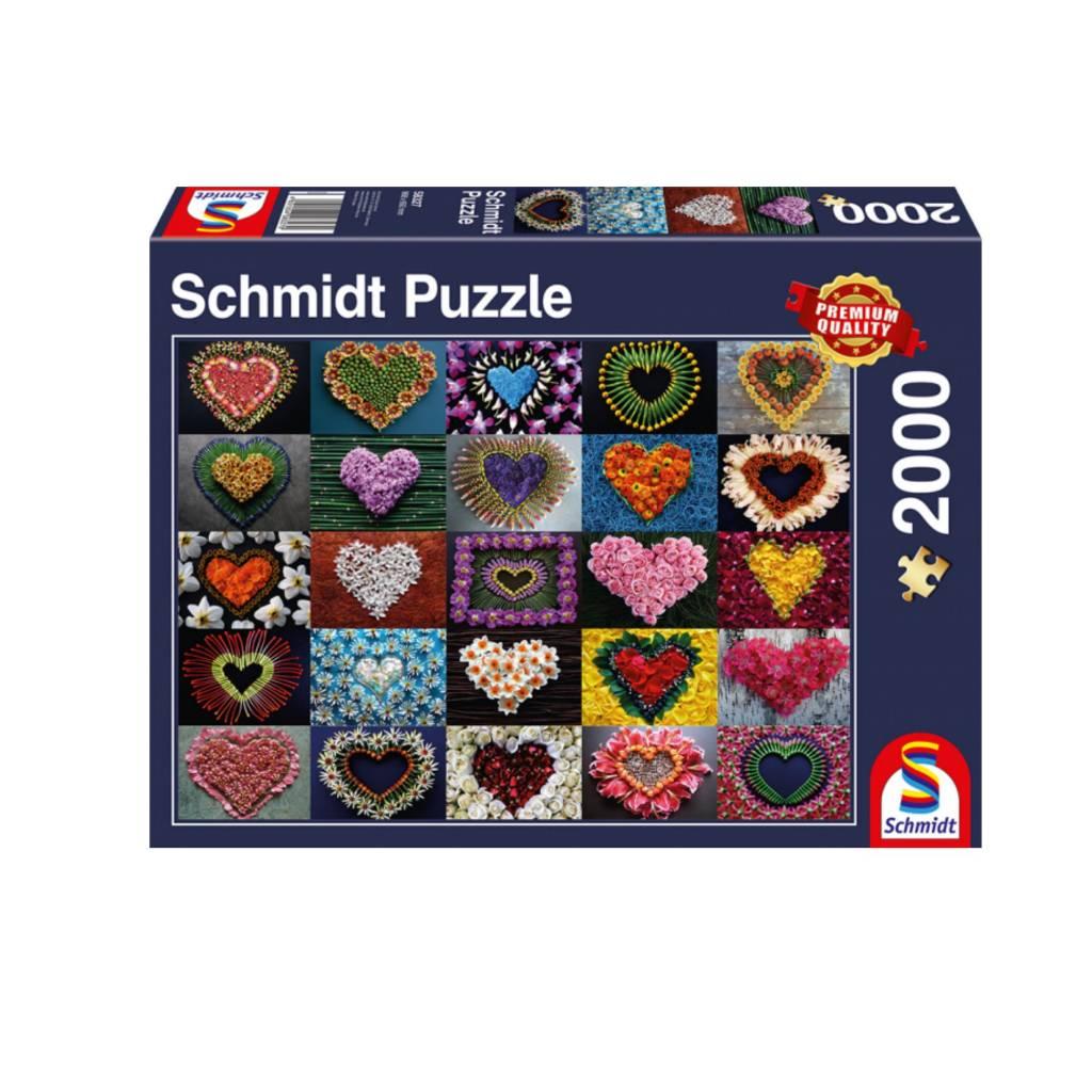 Schmidt Puzzle 2000: Hearts for Madalene Schmidt