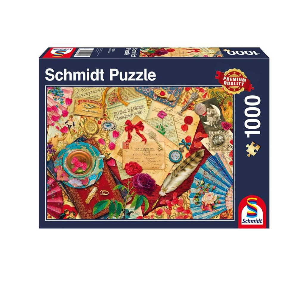 Schmidt Puzzle 1000: Vintage Love Letters Schmidt