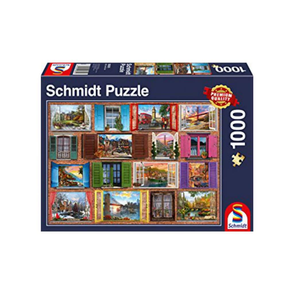 Schmidt Puzzle 1000: Open Windows Schmidt
