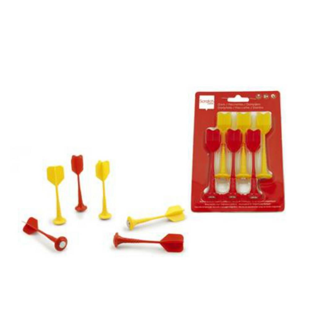 Dards magnétiques 6 pièces rouge & jaune