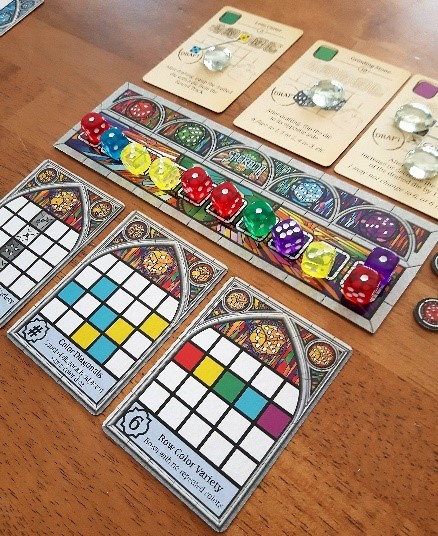 Composantes du jeu Sagrada