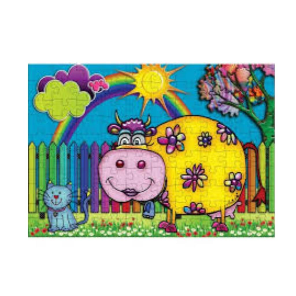 JaCaRou Puzzle 100: Une vache au soleil