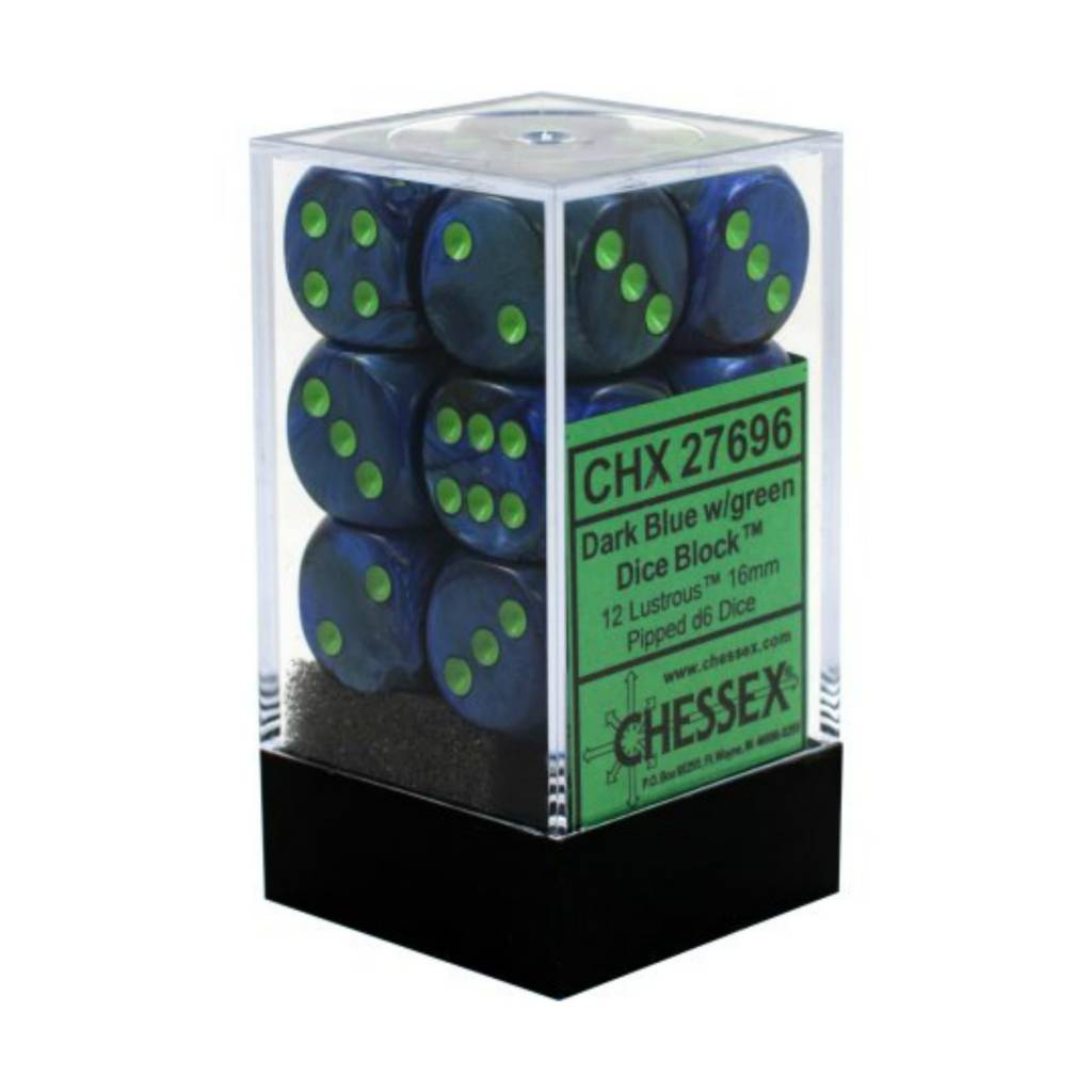 Chessex Chessex Lustrous: 12D6 Dark Blue/Green