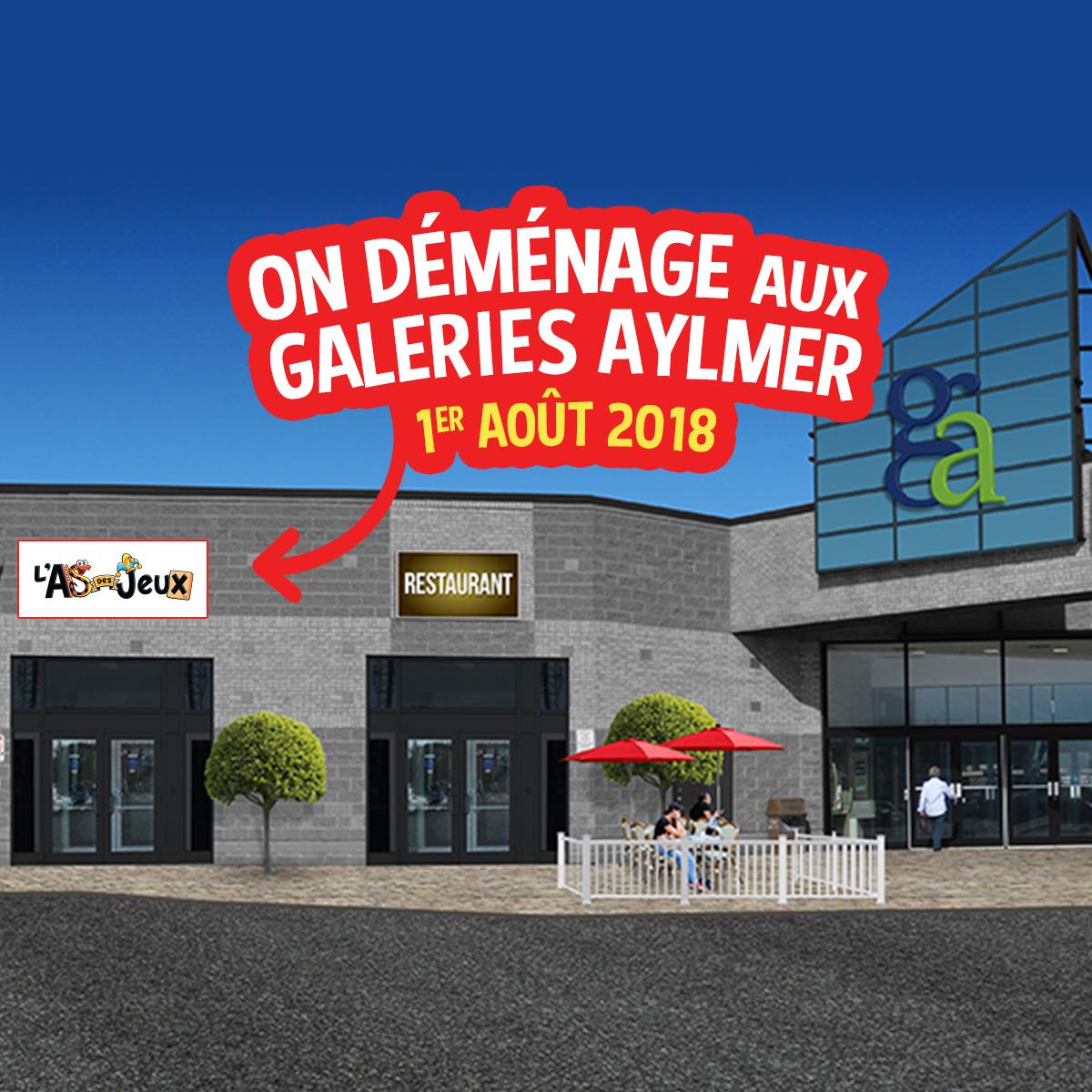 L'As des jeux Aylmer déménage aux Galeries Aylmer