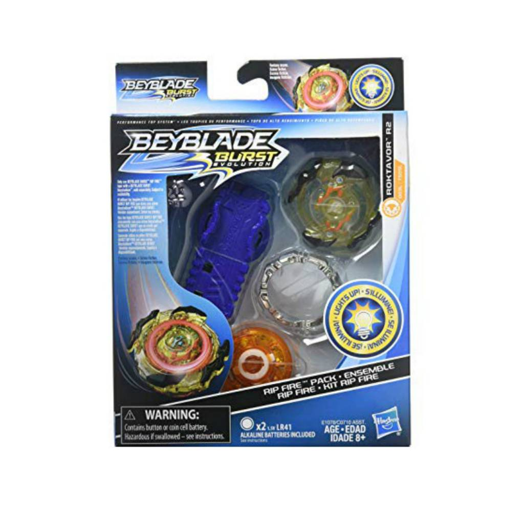 Hasbro Games Beyblade Burst Evolution - Ensemble départ Rip Fire Roktavor R2