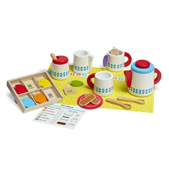 Melissa & Doug Ensemble de thé en bois Steep and Serve