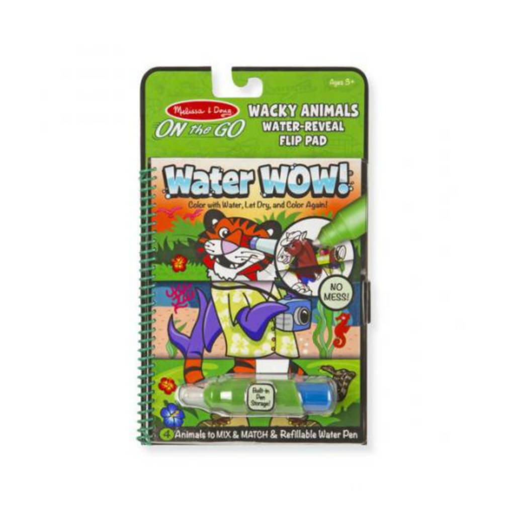 Melissa & Doug Wacky Animals Flip Pad Water Wow!