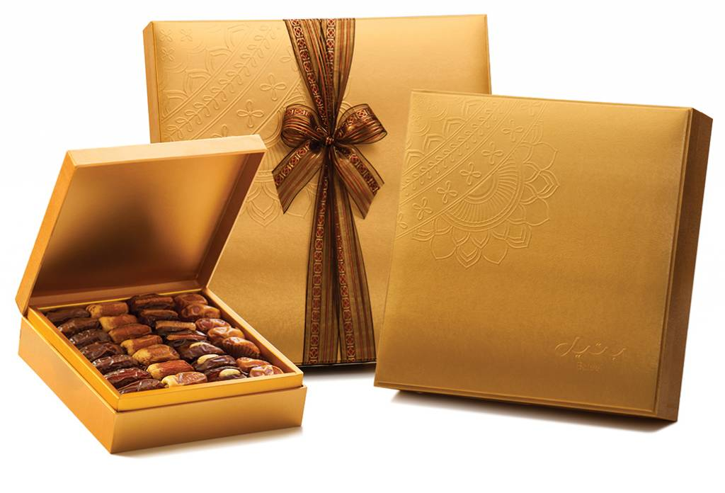 Bateel USA Danica Gold Gift Box with Gourmet Dates