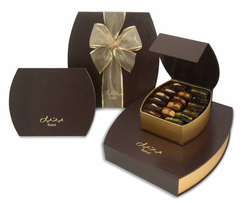 Bateel gift boxes bateel usa barrel brown gift box with gourmet dates negle Gallery