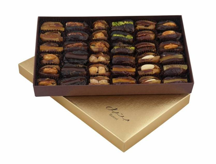Bateel USA Cassandra Rectangle Gift Box with Gourmet Dates