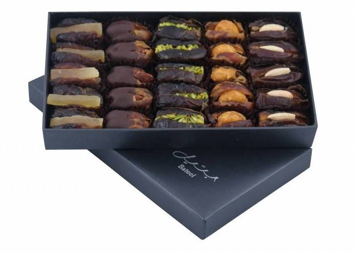 Bateel USA Onyx Rectangle Gift Box with Gourmet Dates
