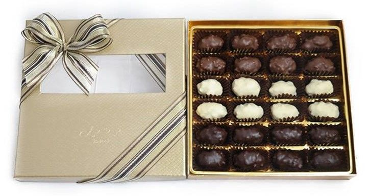 Bateel USA Date Chocolates -  Almond Rocher Assortment (24 Pieces)