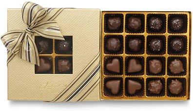 Bateel USA Origin Chocolates Gold Window Gift Box Assortment 1 (16 Pieces)